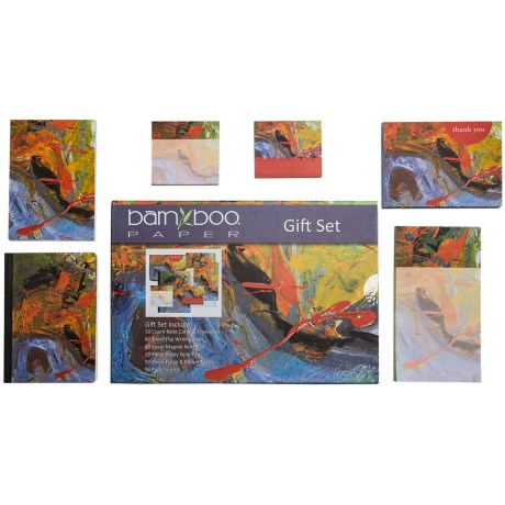Bamboo Paper Gift Set - 6-Piece in Abstract