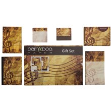 Bamboo Paper Gift Set - 6-Piece in Music - Closeouts