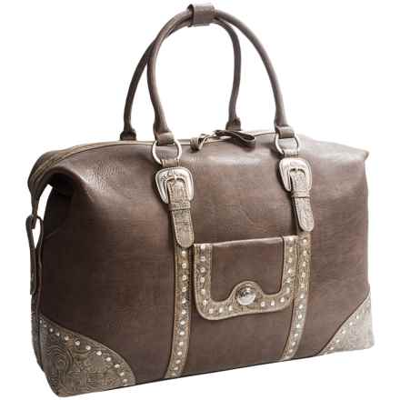 Bandana by American West Lake Tahoe Carry-On Tote Bag in Medium Brown - Closeouts