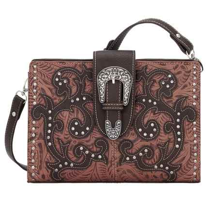 Bandana by American West Laramie Shoulder Bag/Clutch (For Women) in Rose - Closeouts