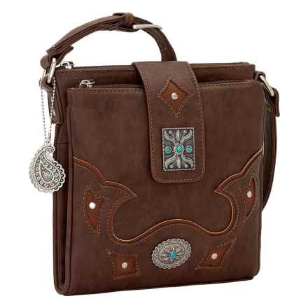 Bandana by American West Lexington Organized Crossbody Bag (For Women) in Chestnut - Closeouts
