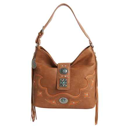 Bandana by American West Lexington Slouch Shoulder Bag in Tan - Closeouts