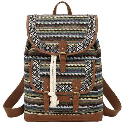 Bandana by American West Santa Fe Backpack (For Women) in Brown Multi - Closeouts