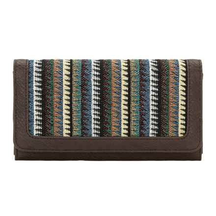 Bandana by American West Tulum Flap Wallet (For Women) in Dark Brown - Closeouts