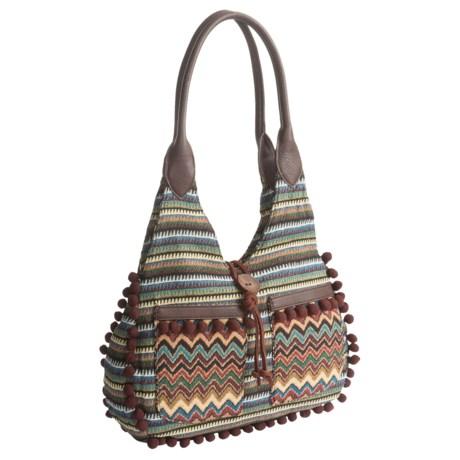 Bandana by American West Tulum Scoop Top Tote Bag (For Women) in Dark Brown