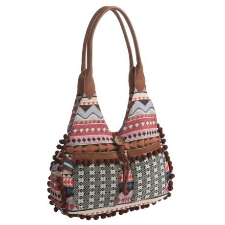 Bandana by American West Tulum Scoop Top Tote Bag (For Women) in Tan