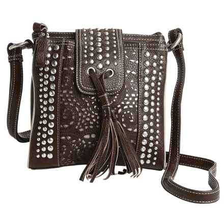 Bandana by American West West Mesa Organized Crossbody Bag in Chocolate - Closeouts