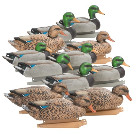 Banded Floating Mallards Duck Decoys 7 Drakes, 5 Hens