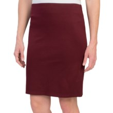 Banded-Waist Pencil Skirt - Stretch Rayon Blend (For Women) in Rare Ruby - 2nds