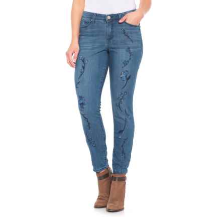 Bandolino Lisbeth Embroidered Ankle Jeans - Curvy Fit, Skinny (For Women) in Sonora - Closeouts