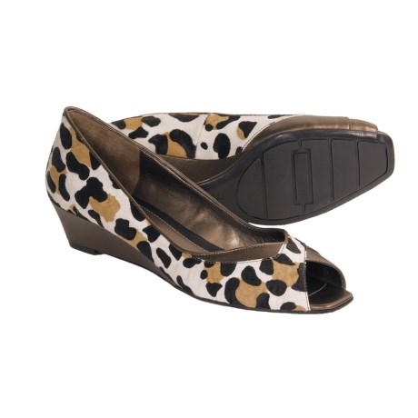Bandolino Ucantell Shoes - Peep-Toe, Wedge Heel (For Women) in Animal Print