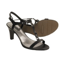 Bandolino Varros T-Strap Sandals - Leather (For Women) in Black - Closeouts