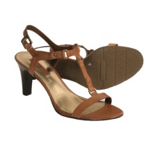 Bandolino Varros T-Strap Sandals - Leather (For Women) in Cognac - Closeouts