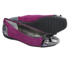 Bandolino Woundup Flats - Bow Accent (For Women) in Dark Pink Multi - Closeouts