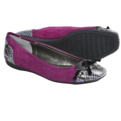 Bandolino Woundup Flats - Bow Accent (For Women) in Dark Pink Multi