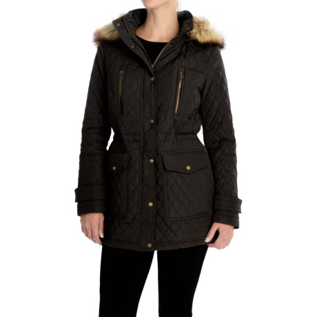 Bar III Quilted Anorak Jacket (For Women) in Black