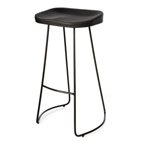 Image of Bar Stool with Metal Base - 18x16x29?