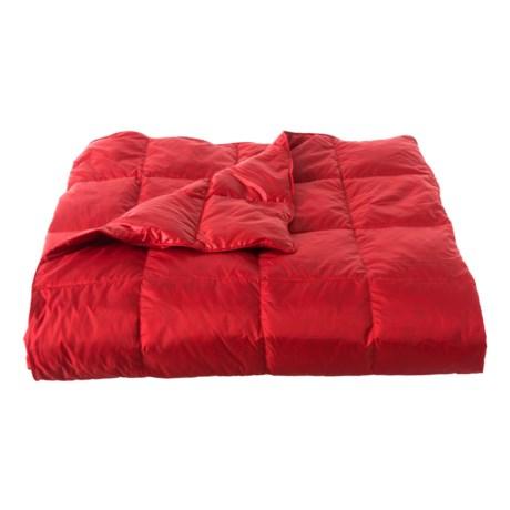 Image of Barba Cherry Reversible Down Throw Blanket - 60x70?