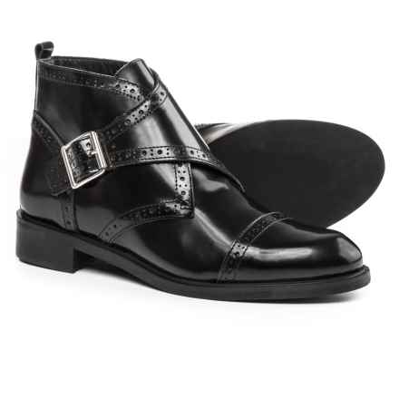 Barbara Barbieri Buckle Boots - Leather (For Women) in Black - Closeouts