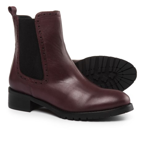 Barbara Barbieri Chelsea Boots - Leather (For Women) Made in Italy in Bordo