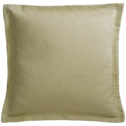 "Barbara Barry Cloud Nine Accent Pillow - 18x18"", Cotton Matelasse in Aloe"