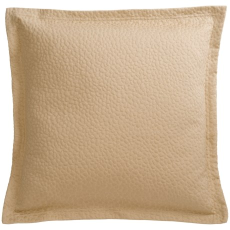 "Barbara Barry Cloud Nine Accent Pillow - 18x18"", Cotton Matelasse in Powder"