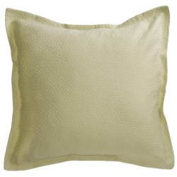 Barbara Barry Cloud Nine Pillow Sham - Euro, Cotton Matelasse in Blue Water