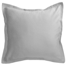 Barbara Barry Cloud Nine Pillow Sham - Euro, Cotton Matelasse in Blue Water - Closeouts
