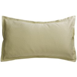 Barbara Barry Cloud Nine Pillow Sham - King, Cotton Matelasse in Aloe