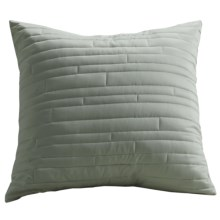 Barbara Barry Contentment Pillow Sham - Euro, 200 TC Cotton in Moss - Closeouts