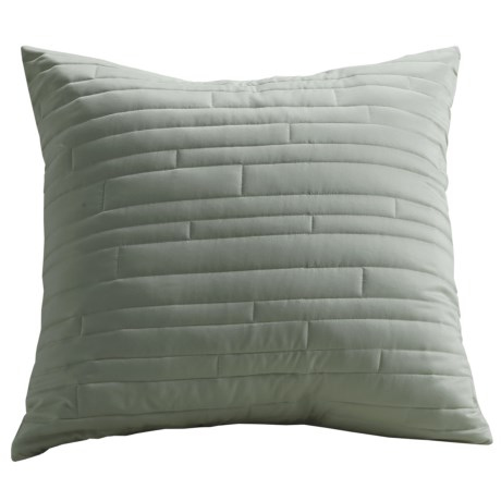 Barbara Barry Contentment Pillow Sham - Euro, 200 TC Cotton in Moss