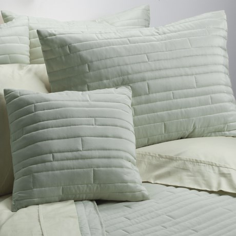 Barbara Barry Contentment Pillow Sham - Queen, 200 TC Cotton in Moss