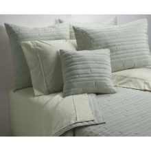Barbara Barry Contentment Quilt - King, 200 TC Cotton in Moss - Closeouts
