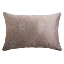 Barbara Barry Cotton Sateen Starburst Pillow Sham - Queen in Light Beige - Closeouts