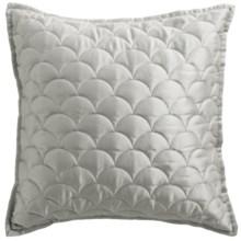 "Barbara Barry Crescent Moon Decor Pillow - 18x18"" in Silver - Closeouts"