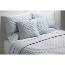 Barbara Barry Crescent Moon Pillow Sham - Queen, 200 TC Cotton in Breeze - Closeouts