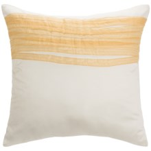 Barbara Barry Dream Caprice Ribbon Pillow Sham - Euro, 250 TC Cotton Sateen in Caprice - Closeouts