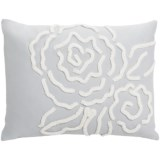 "Barbara Barry Dream Forties Floral Chenille Rose Boudoir Accent Pillow - 12x16"" 250 TC Cotton Sateen"