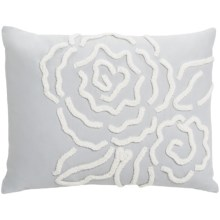 "Barbara Barry Dream Forties Floral Chenille Rose Boudoir Accent Pillow - 12x16"" 250 TC Cotton Sateen in Forties Floral - Closeouts"
