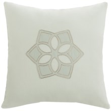 "Barbara Barry Dream Sanctuary Scroll Accent Pillow - 16x16"", 250 TC Cotton in Sanctuary Scroll - Closeouts"