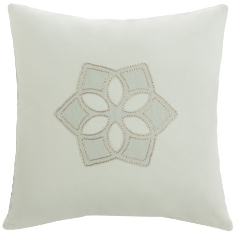 "Barbara Barry Dream Sanctuary Scroll Accent Pillow - 16x16"", 250 TC Cotton in Sanctuary Scroll"