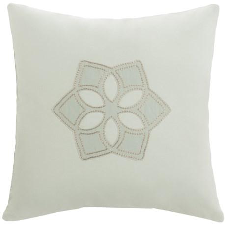 "Barbara Barry Dream Sanctuary Scroll Accent Pillow - 16x16"", 250 TC Cotton in Sanctuary Scroll"