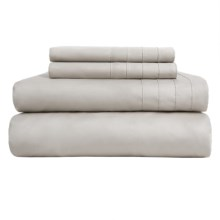 Barbara Barry Dream Satin Tux Sheet Set - California King, 500 TC Supima® Cotton in Dove Grey - Closeouts