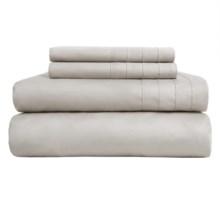 Barbara Barry Dream Satin Tux Sheet Set - King, 500 TC Supima® Cotton in Dove Grey - Closeouts