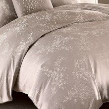 Barbara Barry Florette Duvet Cover - Full-Queen in Dove/Grey - Closeouts