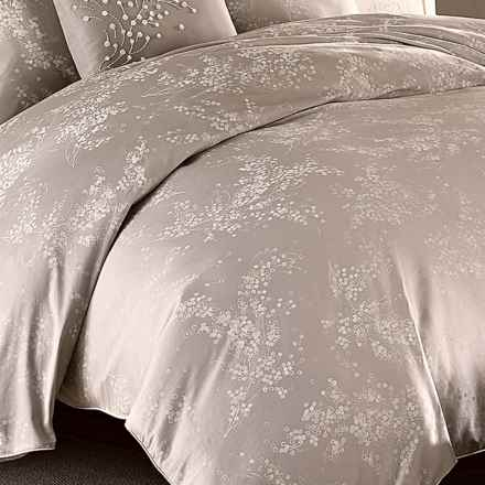 Barbara Barry Florette Duvet Cover - King in Dove/Grey - Closeouts