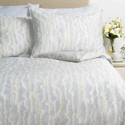 Barbara Barry Mirage Watermark Sateen Comforter Set - King in Light Blue - Closeouts