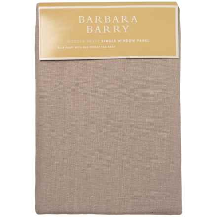 "Barbara Barry Modern Drape Single Window Panel - 35x108"" in Quartz - Closeouts"