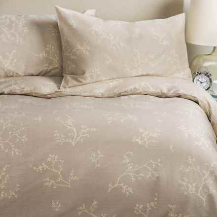 Barbara Barry Night Blossom Duvet Set - King in Heather - Closeouts