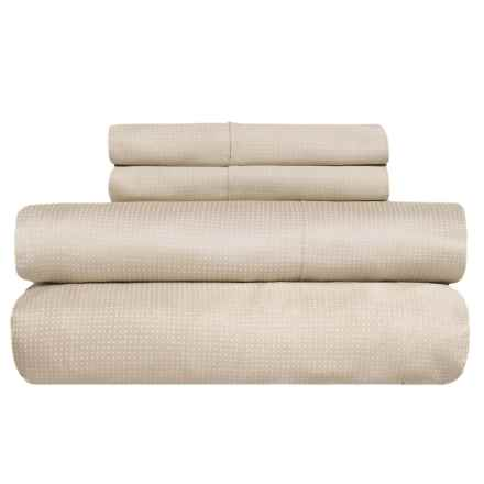 Barbara Barry Perfect Pin Dot Sheet Set - King, 300 TC Cotton Sateen in Taupe - Closeouts